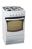 Gas Stove with Light in Oven Royalty Free Stock Photography