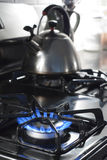 Gas stove in modern kitchen Royalty Free Stock Photography