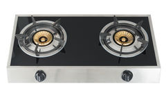 Gas stove the necessary kitchenware royalty free stock photos