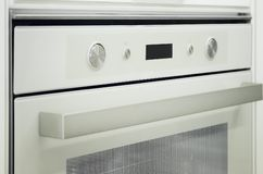 Gas stove and oven in the modern kitchen stock image
