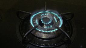 Gas stove stock video footage