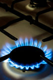 Gas Stove V2. A flame burning on a gas stove in the kitchen Stock Photo