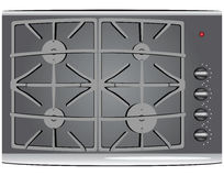 Gas stove Stock Images