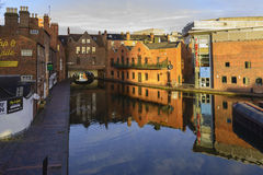 Gas Street Basin in Birmingham royalty free stock photo