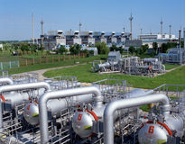 Gas Supply Royalty Free Stock Photo
