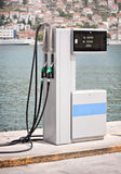 Gas supply pump station at sea Stock Image