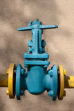 The gas supply valve Royalty Free Stock Photos