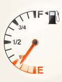 Gas tank. With empty full signs Stock Photo