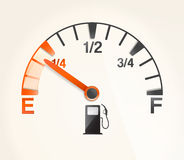 Gas tank. With empty horizontal full signs Stock Images