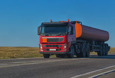 Gas-tank goes on highway Stock Photography