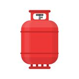 Gas tank icon. Propane cylinder pressure fuel lpg Royalty Free Stock Photos