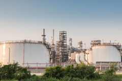 Gas tank oil petrochemical plant Royalty Free Stock Image