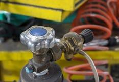 Gas tank valve Stock Image