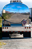 Gas Tanker. Polished chrome tank of a gasoline tanker truck Stock Images