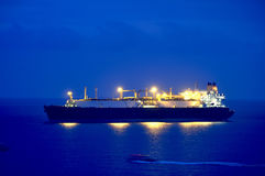 Gas tanker LNG. Oil and gas industry - liquefied natural gas tanker LNG Stock Images