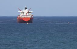 Gas Tanker On Ocean With Blue Sky Royalty Free Stock Photo