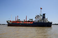Gas tanker ship anchor Royalty Free Stock Image