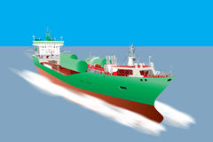 Gas Tanker Ship Stock Photo