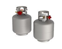 Gas tanks Royalty Free Stock Photos
