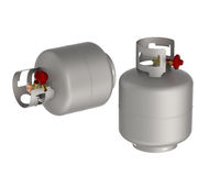 Gas tanks Royalty Free Stock Images