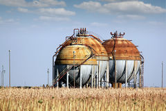 Gas tanks Royalty Free Stock Image
