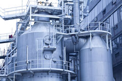 Gas tanks in gas processing plant in Hong Kong Stock Photo