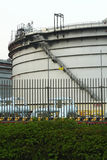 Gas tanks in the industrial estate Royalty Free Stock Image