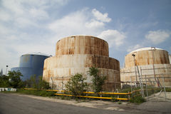 Gas tanks Royalty Free Stock Photo