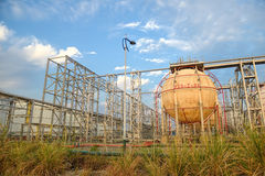 Gas tanks for petrochemical plant Stock Image