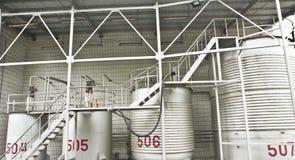 Gas tanks warehouse Royalty Free Stock Photos