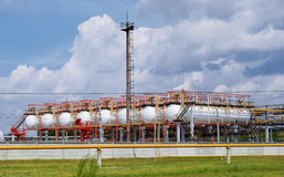 Gas terminal and  sky Royalty Free Stock Photo