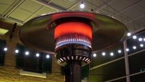 Gas terrace heater stock video footage