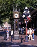 Gas Town Steam Clock, Vancouver. Stock Photo