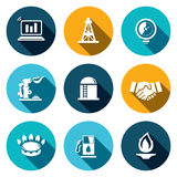 Gas trade  icon set Stock Photography