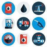 Gas trade vector flat icon set Stock Photo