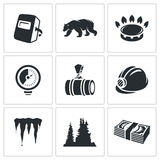 Gas transit Vector Icons Set Stock Photography