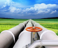 Gas-transmission pipeline Royalty Free Stock Photo