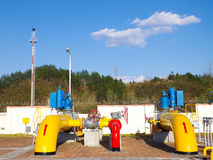 Gas transport station Royalty Free Stock Images