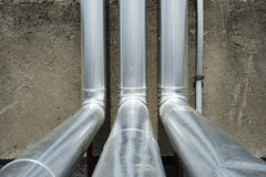 Gas treatment pipelines Royalty Free Stock Photos