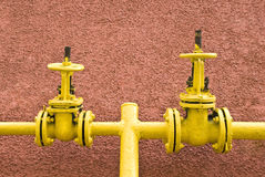 Gas tube with valves royalty free stock images