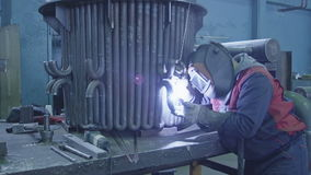Gas tungsten arc welding stock video