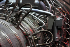 Gas turbine. Close up view of industrial gas turbine royalty free stock images