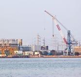 Gas turbine electrical power plant Royalty Free Stock Photo
