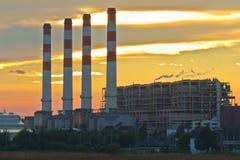Gas turbine electrical power plant Stock Photos
