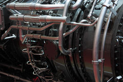 Gas turbine engine. Detail view of the gas turbine engine royalty free stock photography