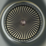 Gas Turbine Jet Engine. 3D image Royalty Free Stock Photos