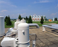 Gas- und Erdölindustrie Lizenzfreies Stockbild