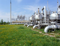 Gas- und Erdölindustrie Stockfotografie