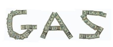 Gas und Geld Stockbild