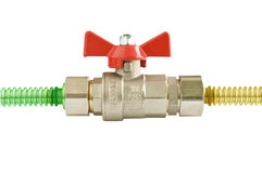 Gas valve Royalty Free Stock Images